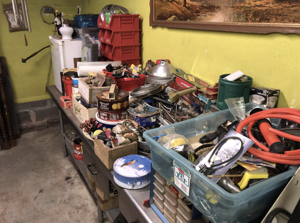 (Sifting through the junk at garage sales to find the gold!)